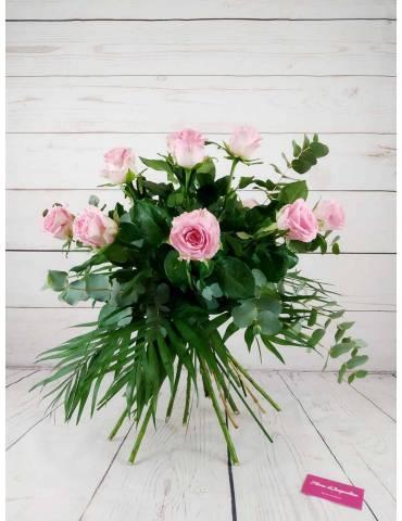 docena de rosas rosas
