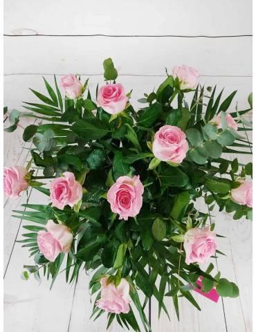 Ramo 12 Rosas Rosadas