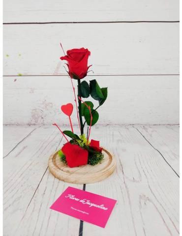 rosa roja preservada la bella y la bestia