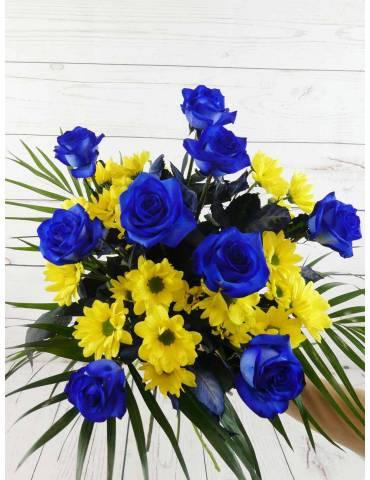 Margaritas Amarillas y Rosas Azules