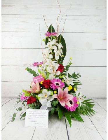 centro de flores y plantas