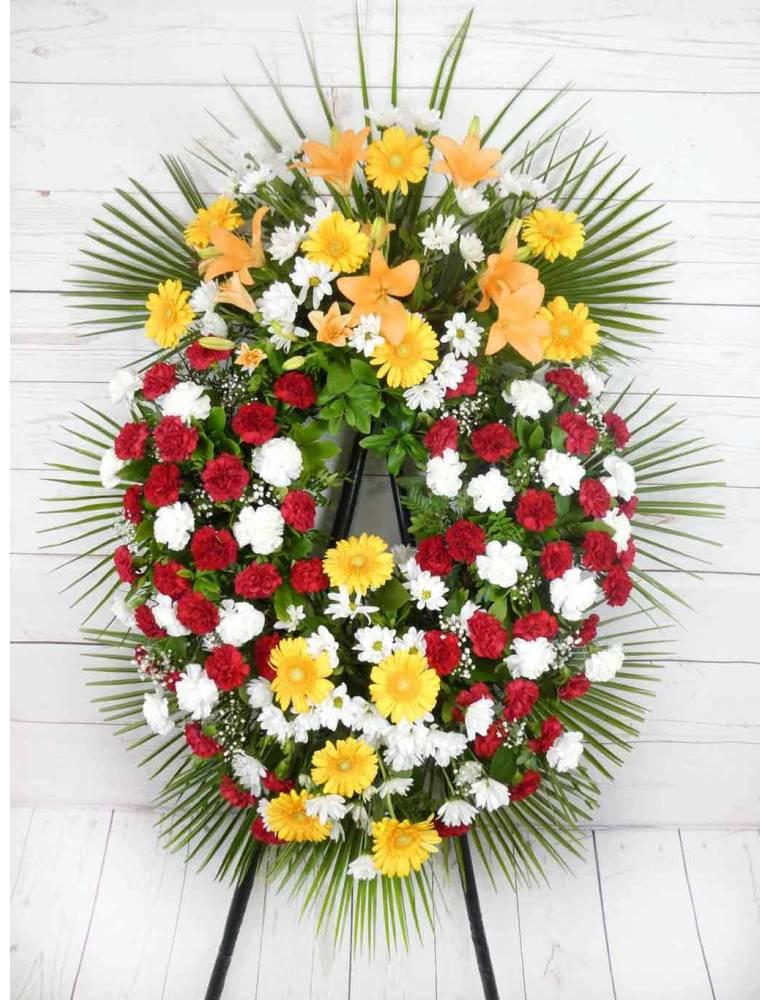 corona de flores para tanatorios