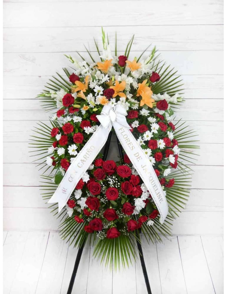 corona de flores rayos de vida