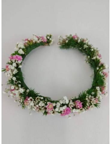 Coronita Comunión Flores Mini y Paniculata