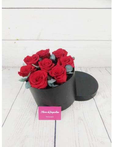 Caja con Rosas Preservadas