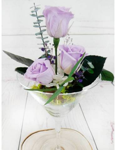 rosas preservadas color lila