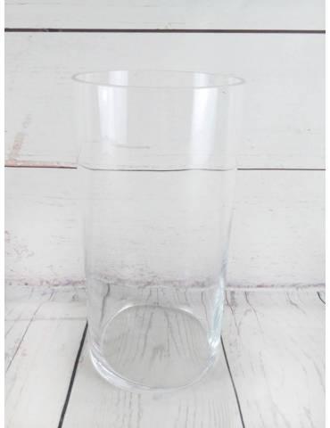 Jarrón Cilíndrico Cristal 15x30cm