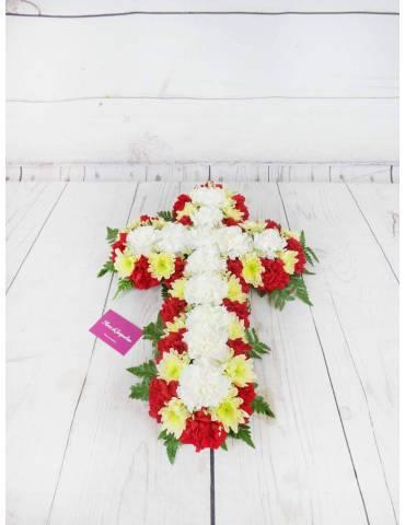 Cruz Funeraria Claveles y...