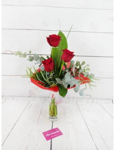 Ramo 3 Rosas Rojas &...