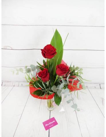 Ramo 3 Rosas Rojas con...