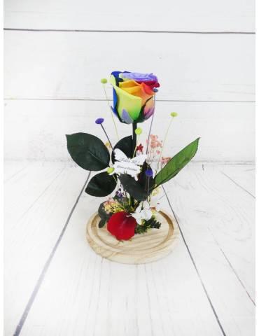 Rosa Preservada Arcoiris...