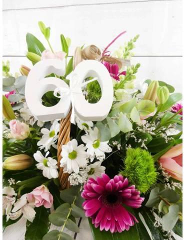Cesta Floral Cumpleaños