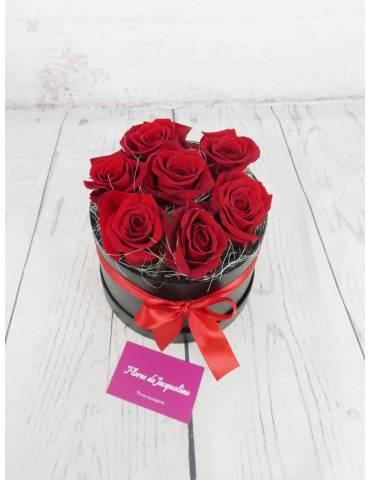 Caja Rosas Rojas pequeña (7...