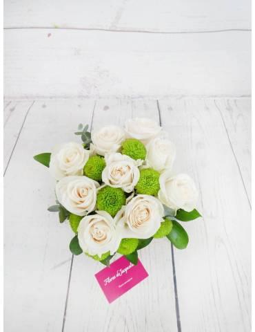 Luz de Luna (9 Rosas Blancas)