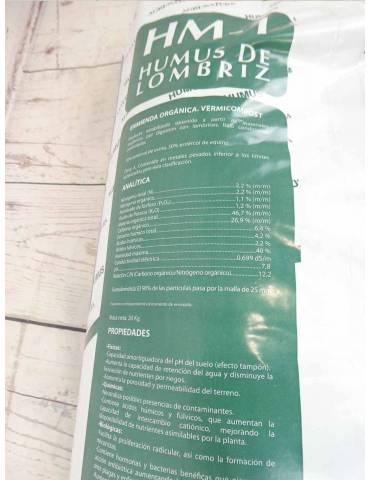 Humus de Lombriz Saco 20 kilos