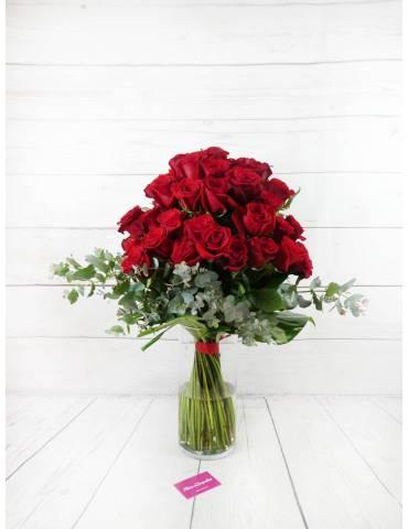 Ramo 60 Rosas Rojas con...
