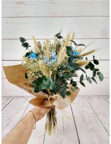 Ramo preservado con rosas azules