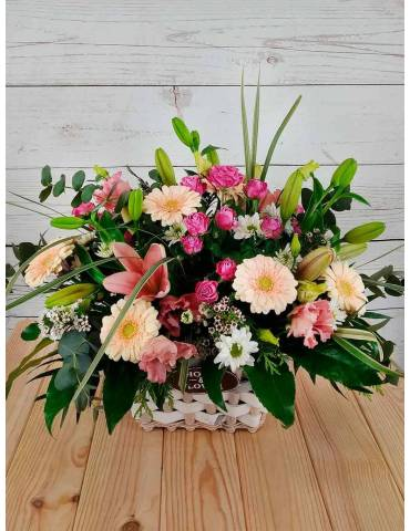 Cesta de Flores Alegría