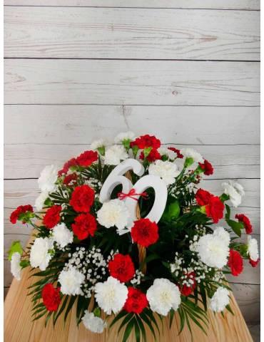 claveles flores claveles rojos y blancos para cumpleaños