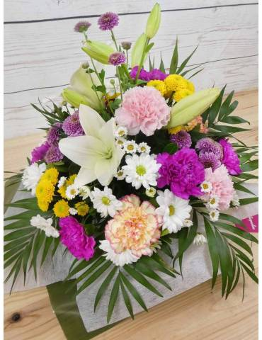 centro de flores frescas y naturales