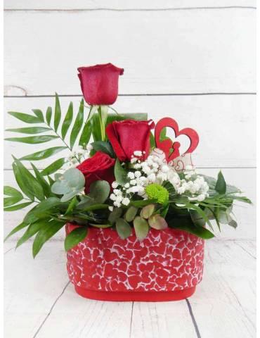 regalar flores san valentin
